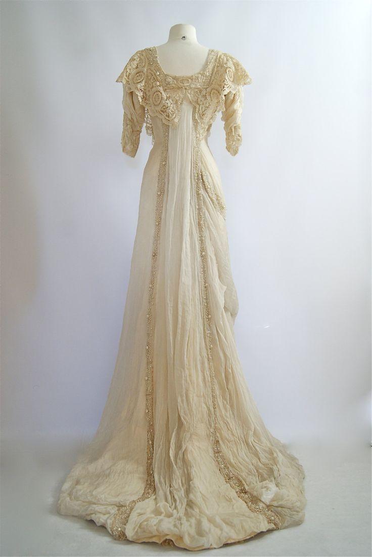 Exquisite 1900s Belle Epoque Wedding Gown by xtabayvintage