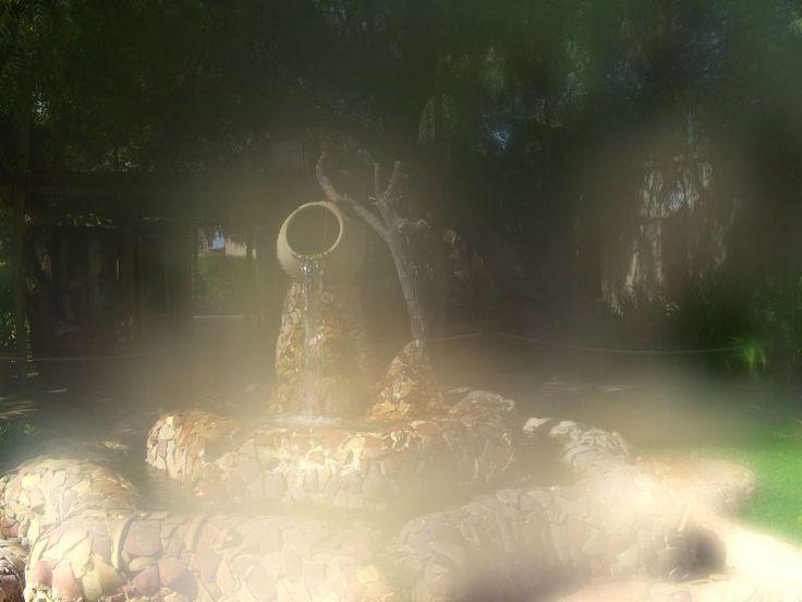 entrance fountain- Heritage village-Abu Dhabi