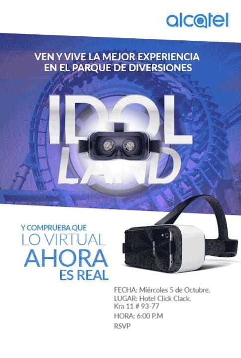 Lanzamiento Alcatel Idol4 Con VR Lo Virtual Ahora Es Real @alcatelmobileCO #alcatelidol4 #idolland #smartphone #VR #technology #Tecnologia