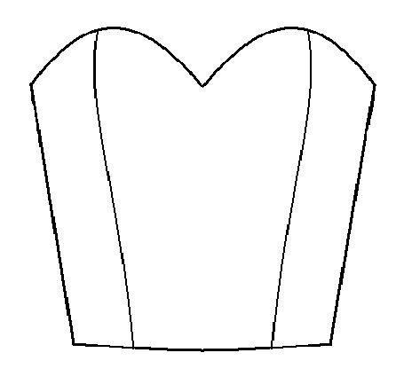 dessiner un bustier à encolure coeur - draft a bodice with sweatheart neckline > Burdastyle.com