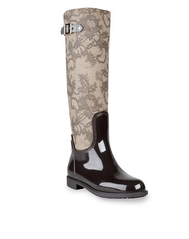 Valentino PVC rain boot with lace and fabric printing