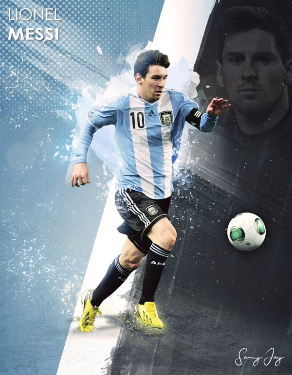Lionel Messi by Samy Jay, via Behance