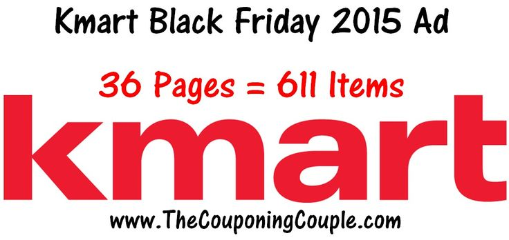 Kmart Black Friday 2015 Ad ~ 36 Pages = 611 Items!  Kmart Black Friday 2015 Ad [adrotate banner = '52']Here is the Kmart Black Friday 2015 Ad! This is a HUGE Ad that is 36 pages and includes 611items! The items in this Ad go on saleat 7PM on Thanksgiving Day and Doorbusters will continue until 2PM on Friday! Check out all of the ot...  Click the link below to get all of the details ► http://www.thecouponingcouple.com/kmart-black-friday-2015-ad-36-pag