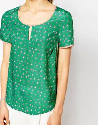 top with bird print - Google Search