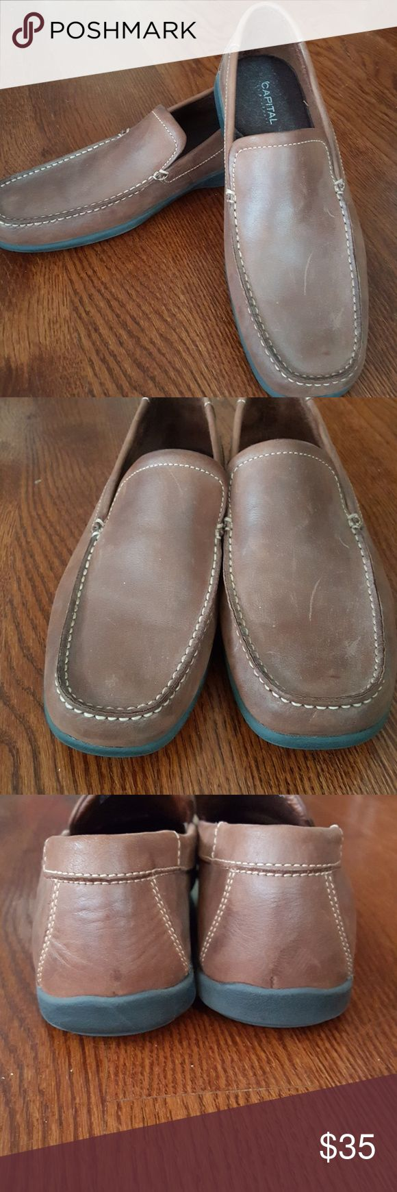 Men's Rockport shoes 10.5m Excellent pre-owned condition men's Capital by Rockport loafers. Size 10.5m. Beautiful brown leather with rubber soles. Soft cushion inside shoes.   Check out my other listings and save with bundling! Thanks for looking! Rockport Shoes Loafers & Slip-Ons