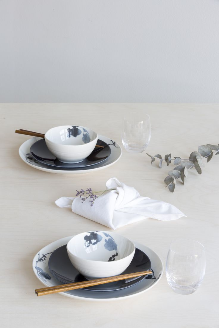 Usva Bowl | Designer Liina Harju created the Usva pattern, which depicts a silhouette of sorrel. The Usva bowl fits well to a breakfast table and it is a great serving dish as well.