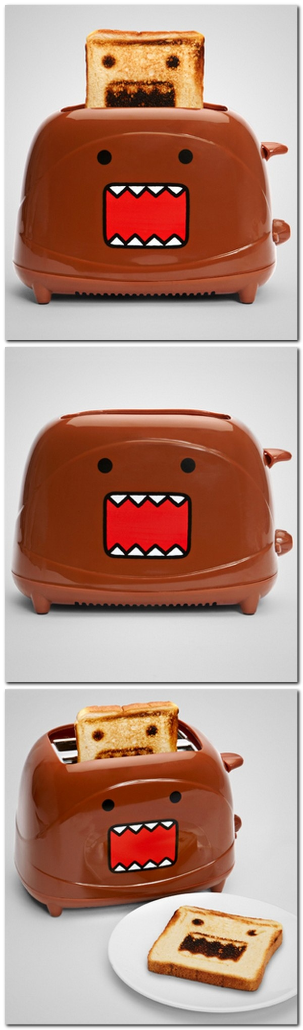 Domo Toaster. Banish your breakfast boredom! Domo's here to brighten your morning.