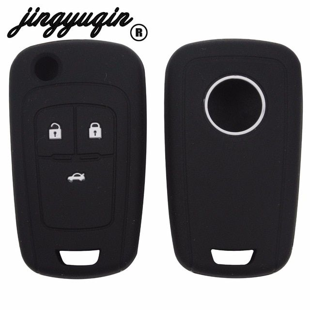 Jingyuqin Silicone Car Key Fob Cover Case For Chevrolet Cruze Opel
