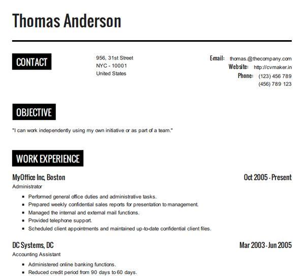 Las 25+ mejores ideas sobre Create a resume online en Pinterest - free online resume templates word