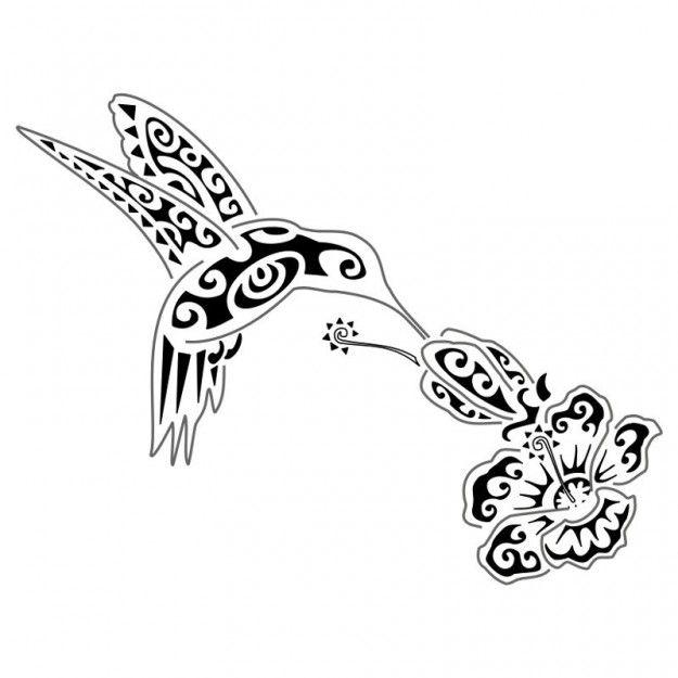 Tatuaggio tribale colibrì e fiore di loto inno alla vita