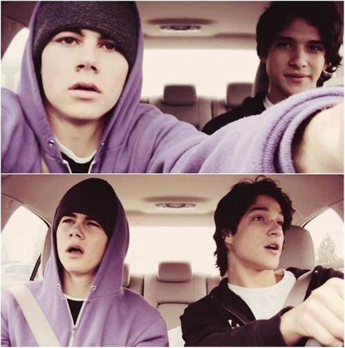 Best Friends Stiles and Scott on Teen Wolf; Tyler Posey and Dylan O'Brien ♥