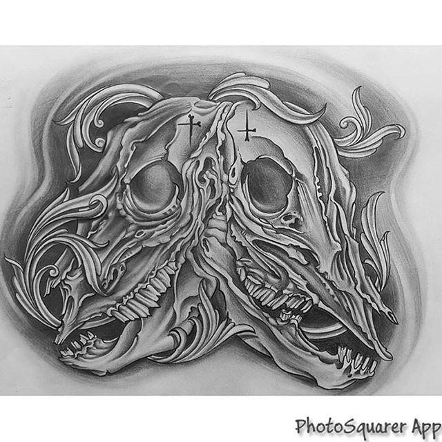 Black and grey skulls drawing by Craig Oliver @olivertwisted218 #tattoo #tattoos #tat #ink #inked #tattooed #tattoist #coverup #art #design #skinart #sleevetattoo #handtattoo #chesttattoo #photooftheday #tatted #bodyart #tatts #tats #amazingink #tattedup #inkedup #nctattooers #inkedmagazine #blackandgreytattoo #blackandgrey #drawing #draw #sketch #shading