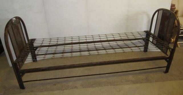 **LOCAL PICKUP ONLY* Antique Rustic Primitive 1920's Metal Bed Frame & Springs