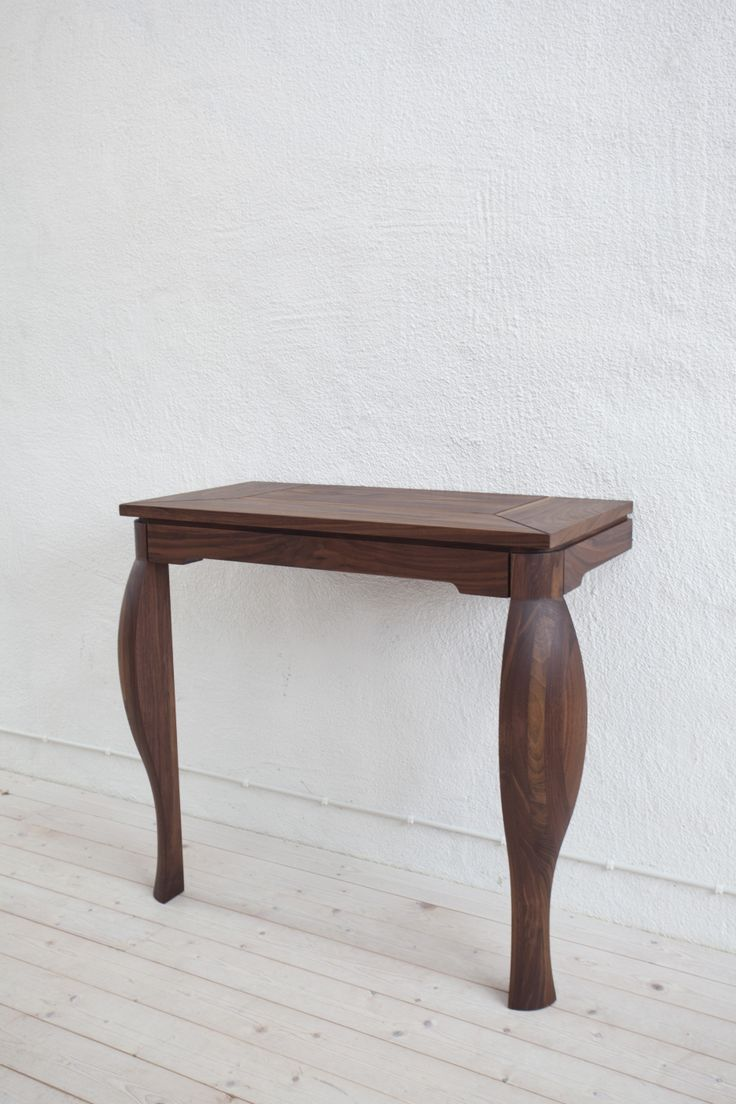 Hand made side table in FSC certified walnut suitable for hallways