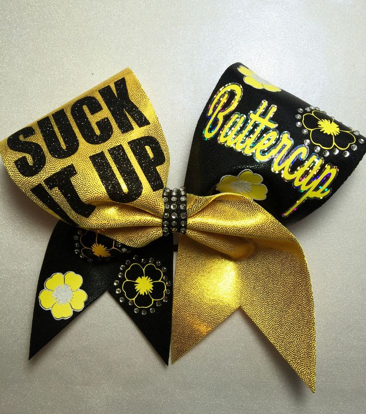 Suck it up Buttercup – Back Flip Bows cheer bow