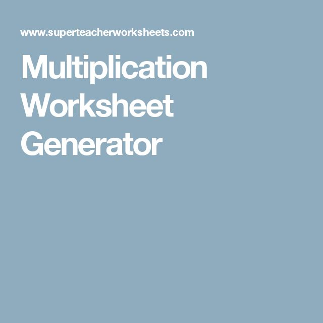 Multiplication Worksheets multiplication worksheets create your – Create Multiplication Worksheets