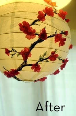 i need to buy a thousand paper lanterns from ikea and make each one into a unique pendant lamp ... the challenge is on!