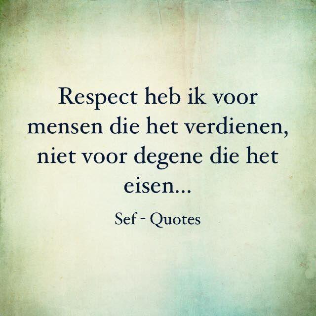 Respect....