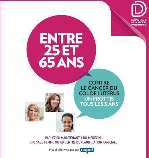 cancer (col utérus, dépistage, France)