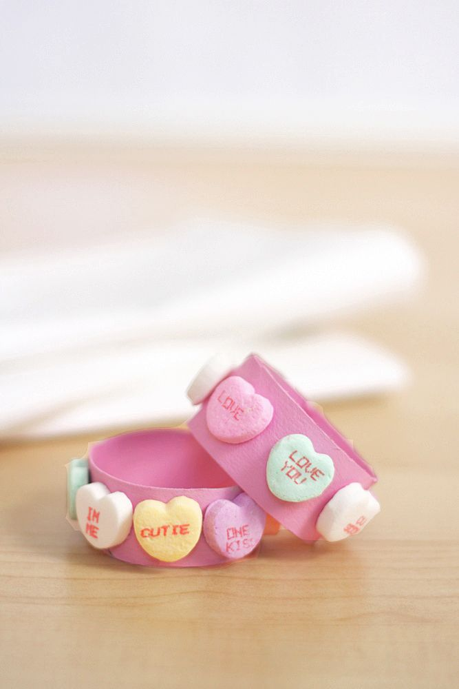 an easy Valentine's Day napkin ring craft to make with kids