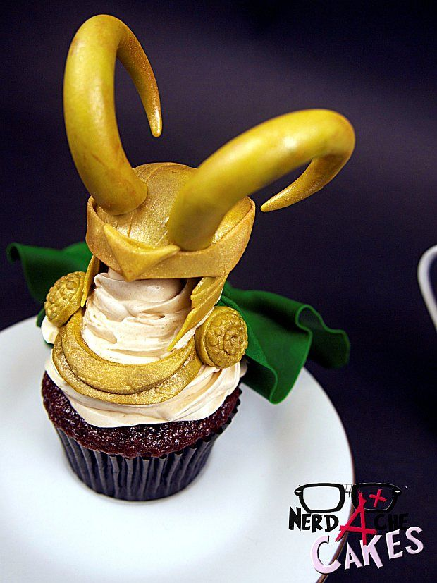 This is s pretty spectacular #Loki cupcake!