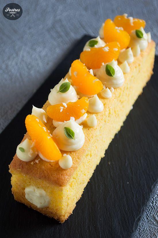 Cake de Mandarina con Cremoso de Yogur y Chocolate blanco