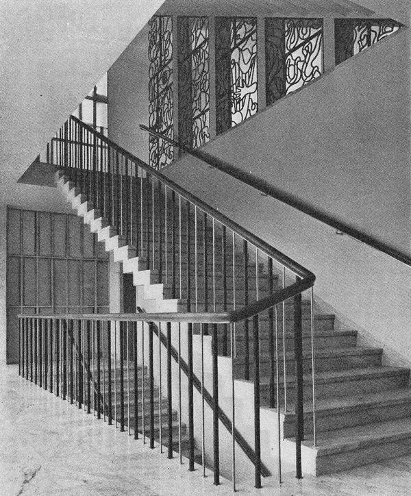 Ahlbom & Sterner: Halmstads rådhus – huvudtrappa