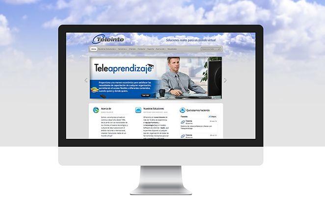 Diseño de Sitio web para Teleinte implementado sobre Wordpress, creado para brindar soluciones tecnológicas