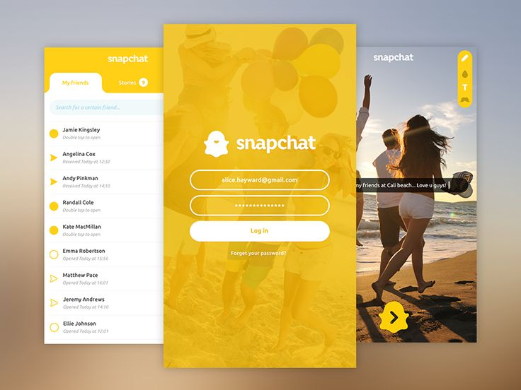 Snapchat app redesign