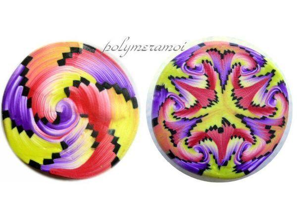 TUTO SPIRAL GELLO Swirled Polymer Clay Kaleidoscope Cane Tutorial by Parole de Pate