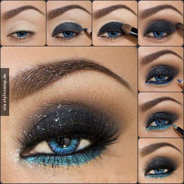 Wow tolles dramatisches Augen Make-up für feierliche Anlässe