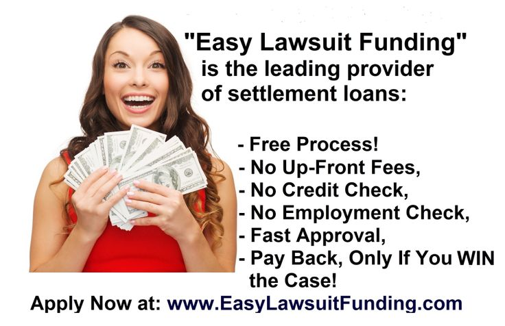 """http://www.easylawsuitfunding.com   Are you waiting for your lawsuit settlement and having financial problems? The solution is easy and simple, Settlement Loan from """"Easy Lawsuit Funding"""". Get your settlement loan now & pay your mortgage, rent, car payments, medical bills & other monthly bills. To apply online for lawsuit funding and to learn more about the advantages of settlement loan and lawsuit funding, please visit our website: http://www.easylawsuitfunding.com/Lawsuit_Funding_FAQs.html"""