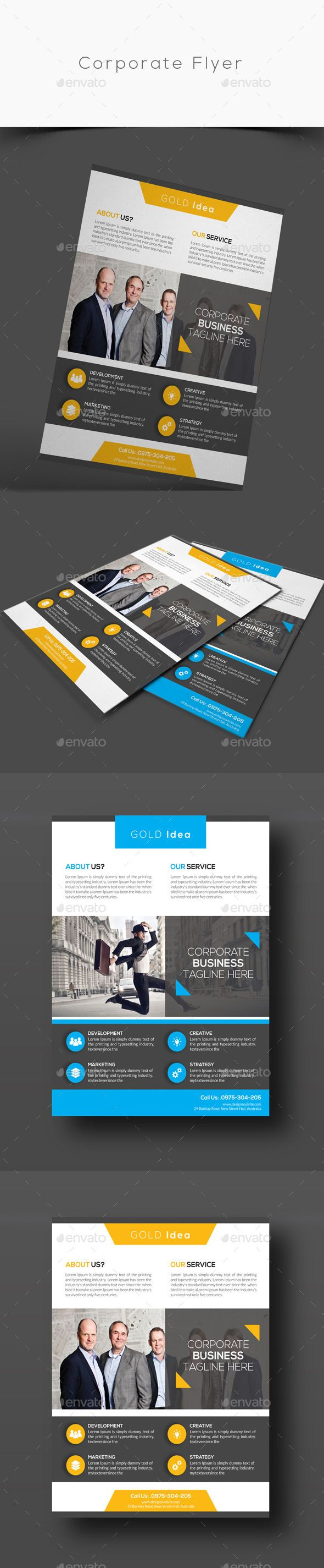 Corporate Flyer Template #design Download: http://graphicriver.net/item/corporate-flyer/12605049?ref=ksioks