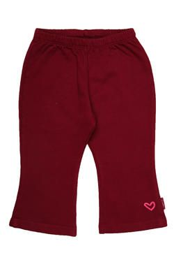 Girls fleece pants with a gorgeous textured heart embroidery. From Naartjie Kids SA.