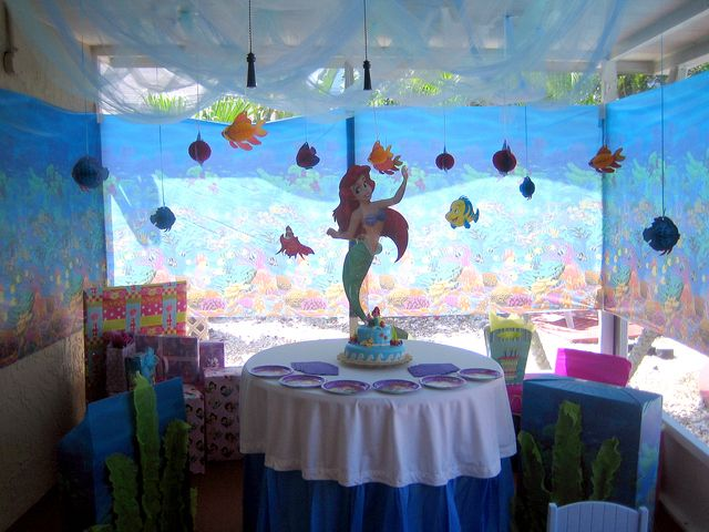 Photo 3 of 7 little mermaid birthday little mermaid for Ariel party decoration ideas