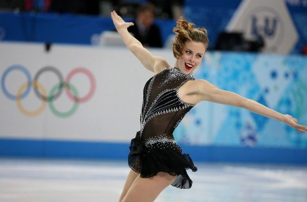Ashley Wagner competes in the figure skating ladies\' short program.