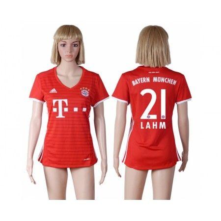 Bayern München Trøje Dame 16-17 #Lahm 21 Hjemmebanetrøje Kort ærmer,208,58KR,shirtshopservice@gmail.com