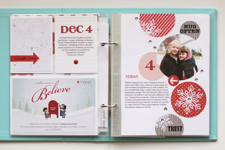 My creative corner: December Daily - Days 4 & 5. Like the min-layout she created on the right hand side.