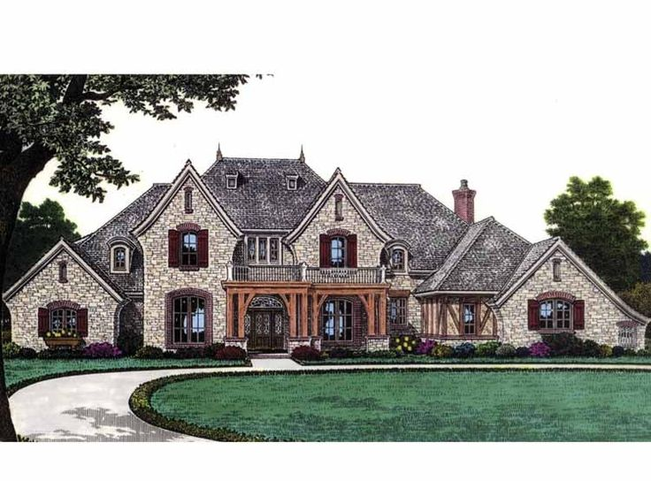 Eplans French Country House Plan - Stunning European Home is Sure to Please - 4392 Square Feet and 4 Bedrooms from Eplans - House Plan Code HWEPL63403
