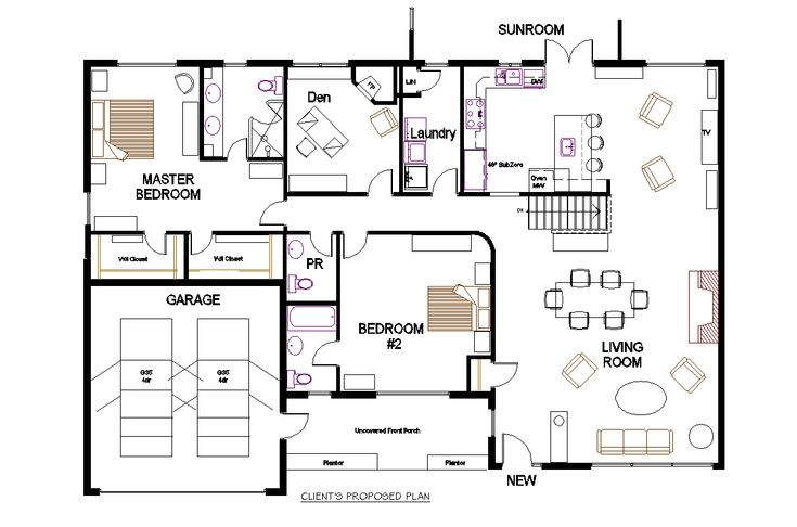 Open concept floor plans for bungalows on with hd for Bungalow design concept