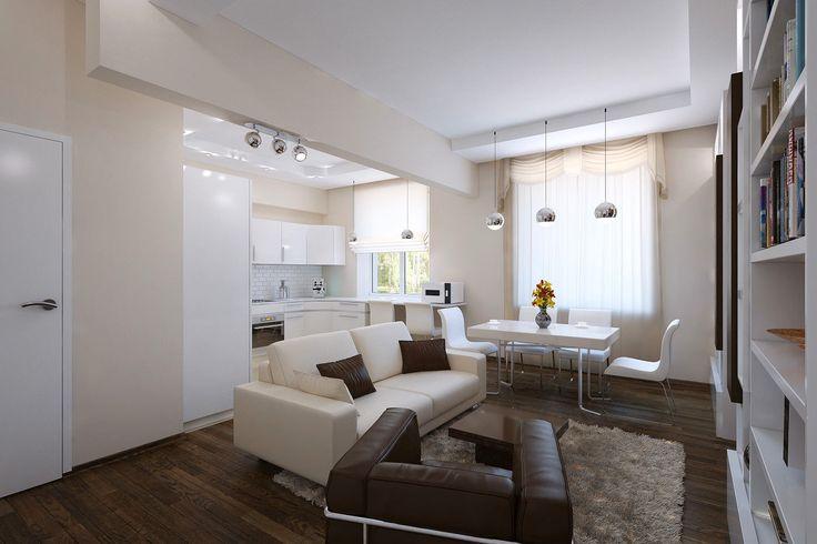 Как красиво обустроить квартиру 60 метров: 3 варианта на выбор