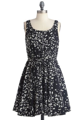 Smooth as Butterfly DressSmooth, Clothing, Dresses 54 99, Black And White, Retro Vintage Dresses, Butterflies Dresses, Mod Retro, Modcloth Com, Butterflies Prints