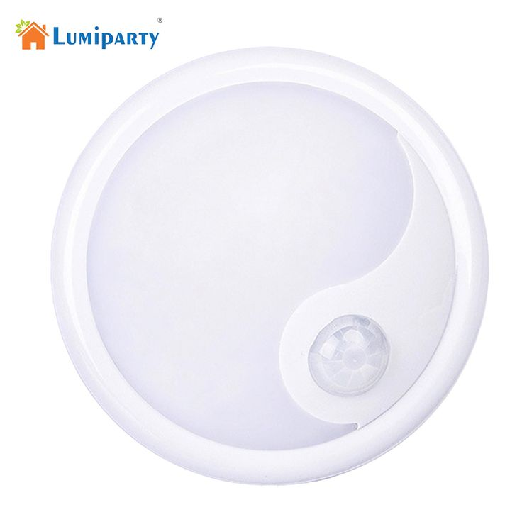 Lumiparty LED motion sensor night light Motion Sensor Ceiling Night Light Battery Powered Porch Cabinet Lamp #Affiliate
