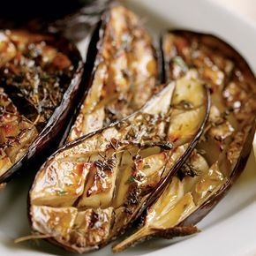 This simple eggplant preparation is one of the best—as easy and delicious as grilling. Roast small Italian eggplant as a versatile side dish and drizzle with lemon or your favorite vinaigrette. Or roast larger globe eggplant and use the flesh in other recipes like pastas, soups, or starters (my favorite is the Eggplant Caviar). Get inspired: View a collection of roasted eggplant recipes or a slideshow of some of our all-time favorite eggplant recipes. Video: Watch this Oven-Roasted Eggplant…
