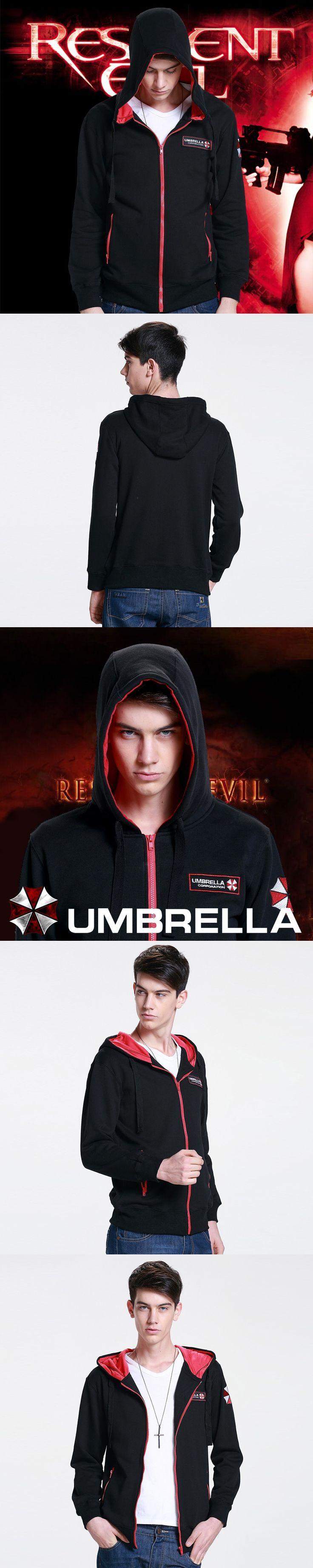 Resident Evil 7 Biohazard The Final Chapter Umbrella Corporation Hoodie Costume Sweatshirt Coat  Mma Hoodie