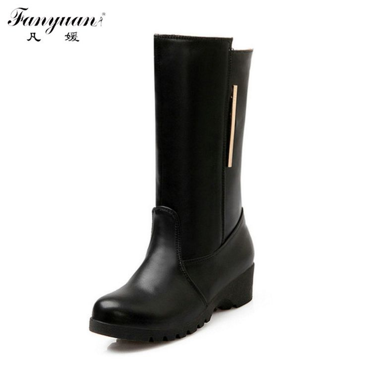 $42.99 (Buy here: https://alitems.com/g/1e8d114494ebda23ff8b16525dc3e8/?i=5&ulp=https%3A%2F%2Fwww.aliexpress.com%2Fitem%2F2015-New-Brand-Femininas-Women-Mid-Calf-Female-Wedges-Boots-Autumn-Boots-Fashion-Women-Boot-Shoes%2F32370835403.html ) 2015 New Brand Femininas Women Mid Calf Female Wedges Boots Autumn Boots Fashion Women Boot Shoes Woman Boats Big size 32-48 for just $42.99