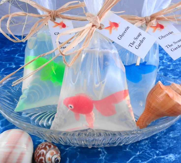 Soap - Goldfish in a Bag Soap - All Natural Glycerin Soap - Handcrafted Soap - Party Favors