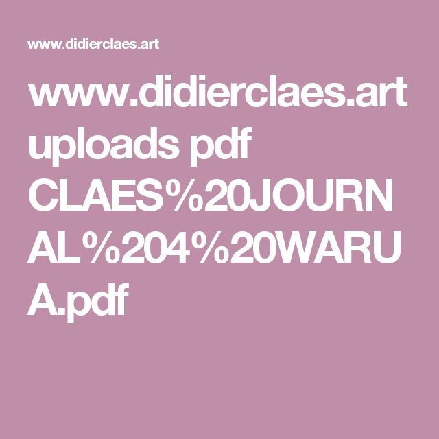 www.didierclaes.art uploads pdf CLAES%20JOURNAL%204%20WARUA.pdf