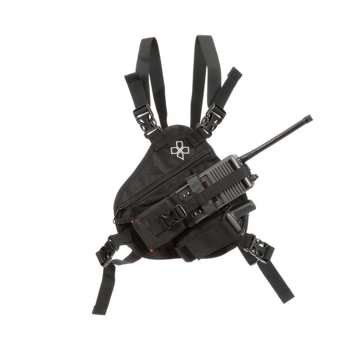 Radio chest harness for wildland firefighting, search and rescue, ski patrol, etc. The RP-1 Scout radio chest harness was specially designed for use with a backpack. The perimeter is ergonomically designed to contour any backpack shoulder straps.