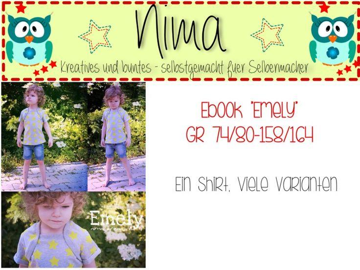 Schnittmuster Emely PDF 74/80-158/164 von NiMa Creative auf DaWanda.com